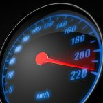 3d illustartion of abstract car speedometer